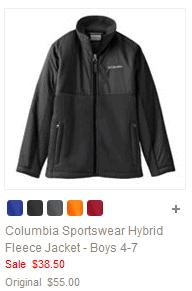Columbia Sportswear Hybrid Fleece Jacket