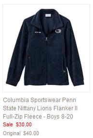 Columbia Sportswear Penn State Nittany Lions Flanker II Full-Zip Fleece