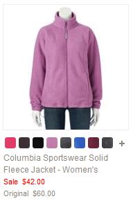 Columbia Sportswear Solid Fleece Jacket