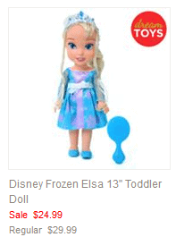 Disney Frozen Elsa 13 Toddler Doll