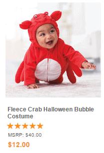 Fleece Crab Halloween Bubble Costume