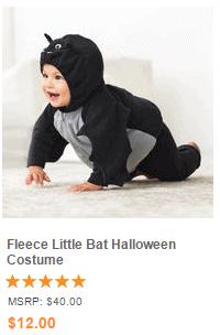 Fleece Little Bat Halloween Costume