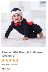 Fleece Little Dracula Halloween Costume