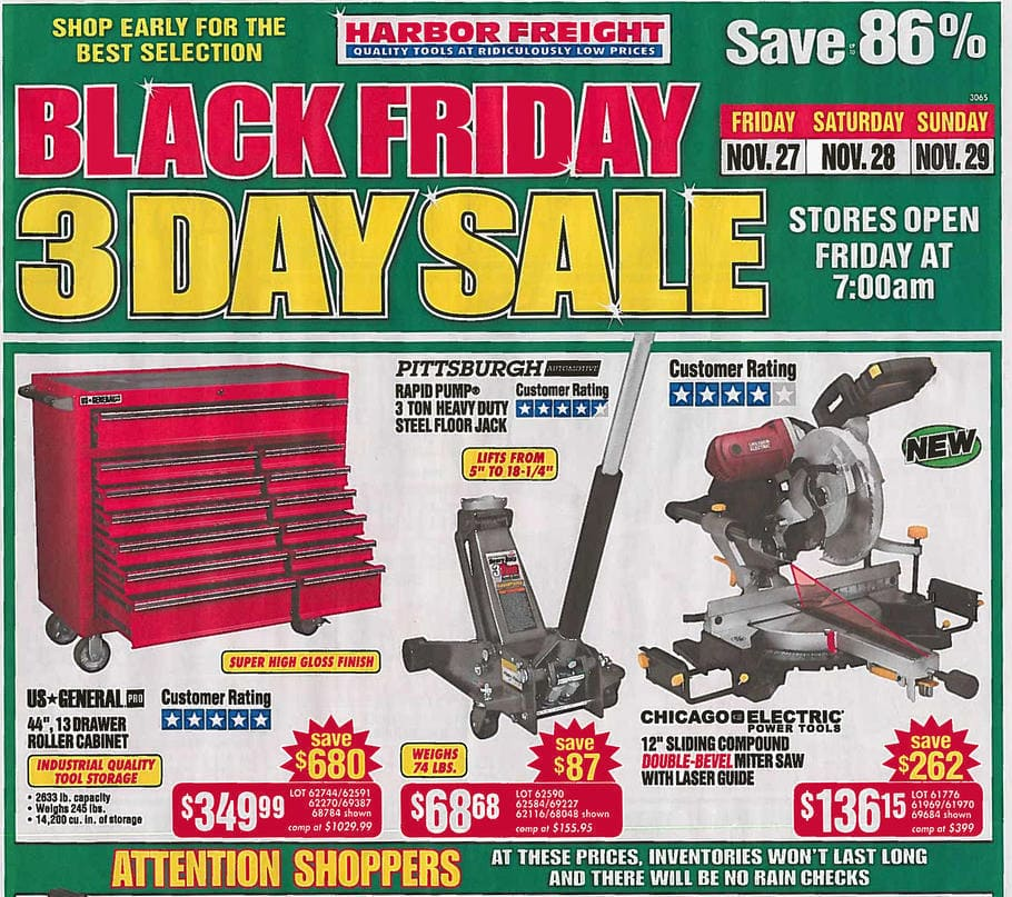 Harbor Freight is known for their discount prices, but you'll also find tons of Harbor Freight printable coupons and coupon codes on their website and in mailers. Combine those with a loyalty club and other ways to save and you're in for some great deals on your next tool purchase.