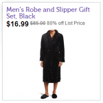 Joseph Abboud Men's Fleece Robe with Slipper Se
