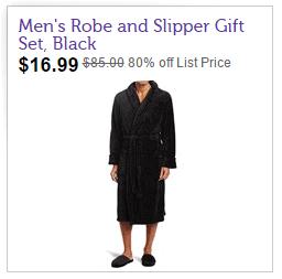 Joseph Abboud Men's Fleece Robe with Slipper Se
