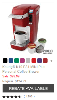 Keurig® K10 B31 MINI Plus Personal Coffee Brewer