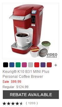 Keurig® K10 B31 MINI Plus Personal Coffee Brewer