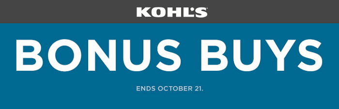 Kohl's Bonus Buy Sale