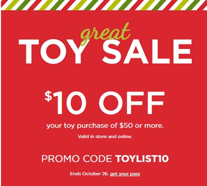 FINAL DAY: Kohl's Toy Sale With Stackable Coupon Codes