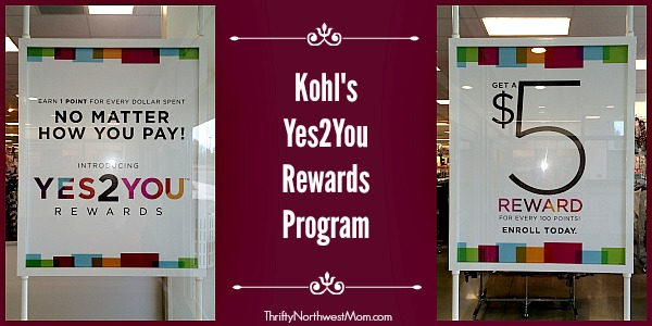 Kohls Yes2You Rewards Program