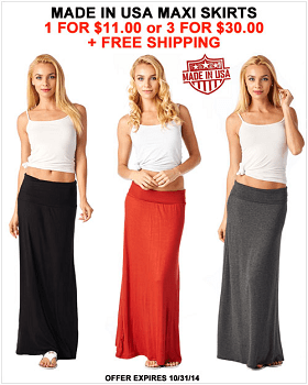 Made In USA Super Soft Maxi Skirts