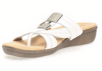 NATURALIZER White Leather Sandals