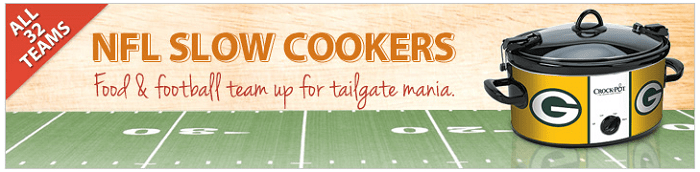 NFL Crock-Pot Slow Cookers 25% OFF With Coupon Code