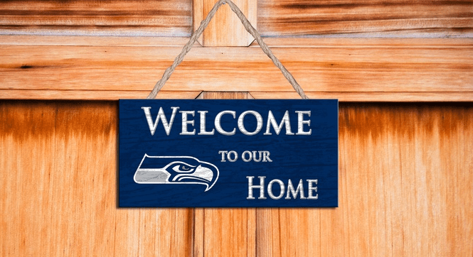 NFL Welcome Home Sign