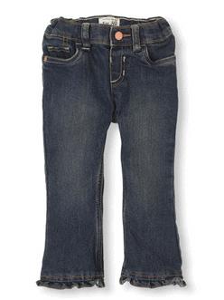 Ruffle Flare Jeans - Sapphire Wash