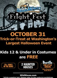 Wild Waves Fright Fest FREE Admission for Kids on Halloween