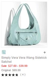 Simply Vera Vera Wang Sidekick Satchel