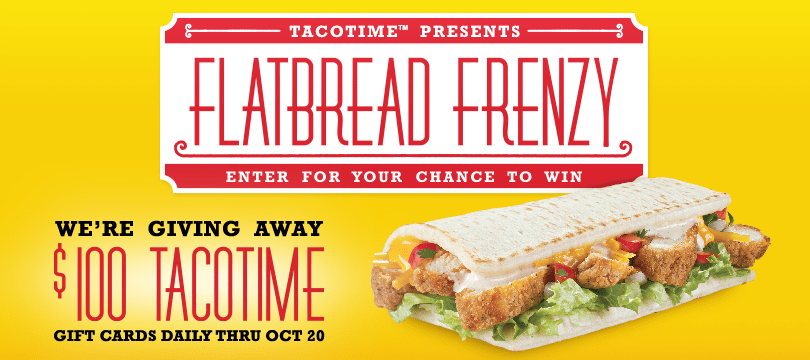 Taco Time Flatbread Frenzy