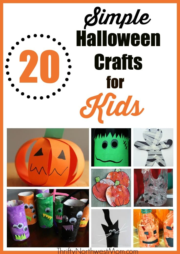 Simple Halloween Crafts For Kids Fall Halloween Crafts