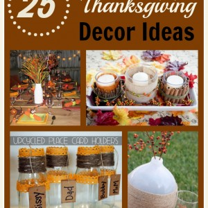 Homemade Thanksgiving Table Decorations & More Frugal Fall Decor