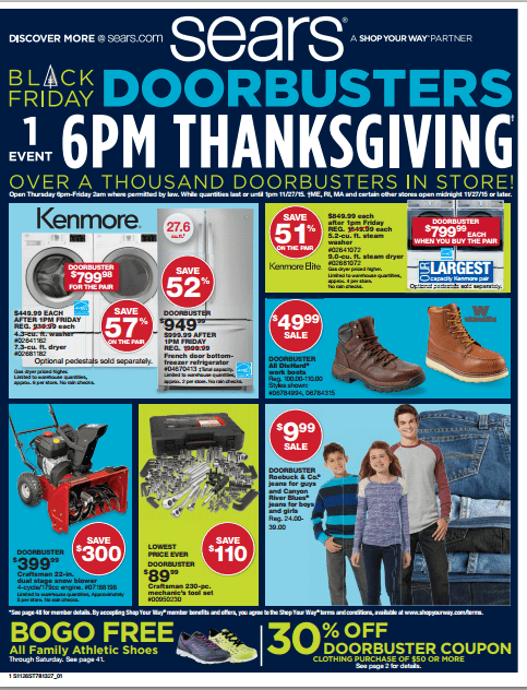 Sears Black Friday Deals for 2015