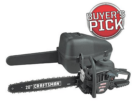 Craftsman 50 cc 20″ Gas Chain Saw – Case Included $149.99 (Reg $279.99) ENDS Tonight!