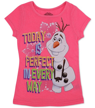 Disney Little Girls' Frozen Olaf Perfect Day Tee