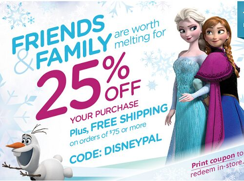Disney Store Coupon Code Good For 25% OFF!