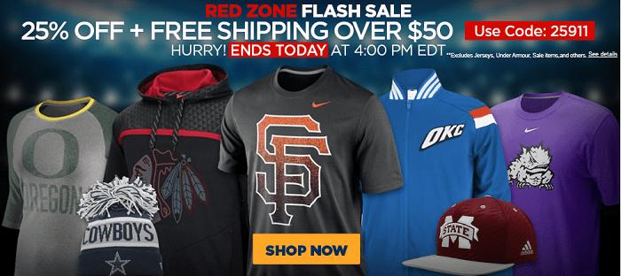Fanatics Flash Sale 25% OFF & FREE Shipping
