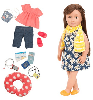 Our Generation Deluxe Poseable Travel Reese Doll