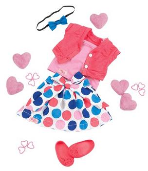 Our Generation Regular Outfit - Polka Dot Skirt