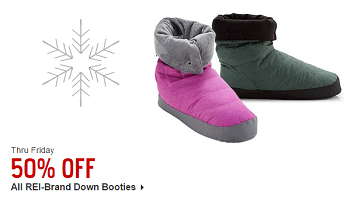REI Down Bootie Deals