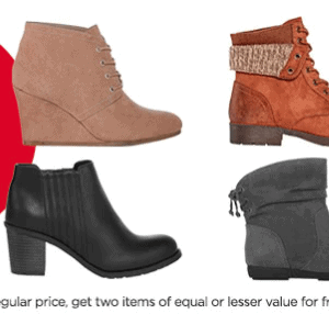 JCPenney Boot Sale - Buy 1 Get 2 Free