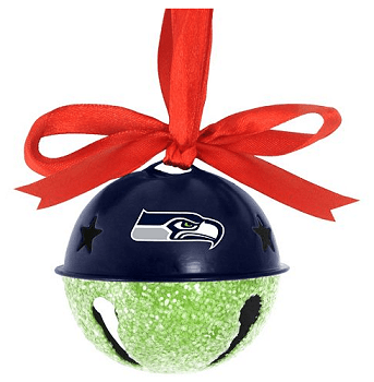 Seattle Seahawks Jingle Bell Ornament