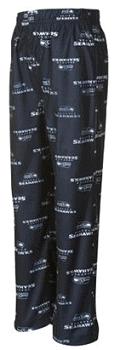 Seattle Seahawks Preschool Allover Logo Flannel Pajama Pants - Navy Blue