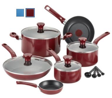T-Fal Excite 14-pc. Aluminum Nonstick Cookware Set