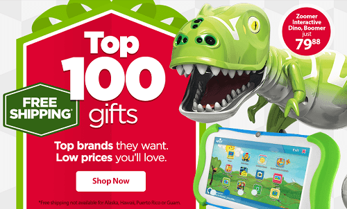 Walmart FREE Shipping On 100 Gift Items With No Minimum!