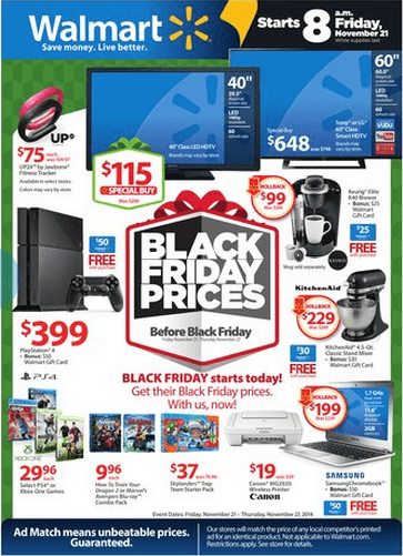 Walmart Pre Black Friday