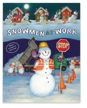 Snowmen at work Christmas book