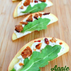 Apple Bacon Argula Bites