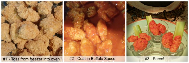 Buffalo chicken collage