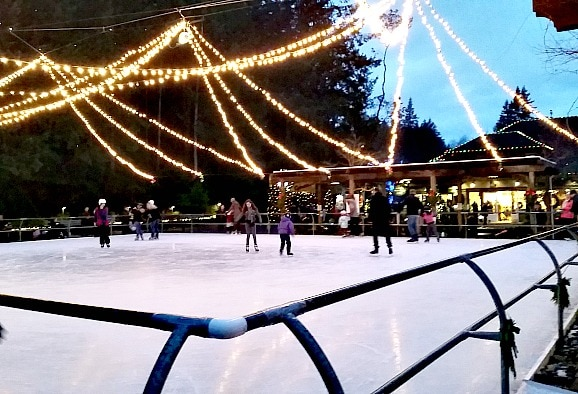 Butchart Gardens Ice Skating at Christmas