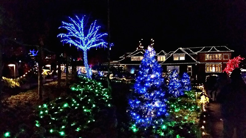 Christmas Lights at Butchart Gardens