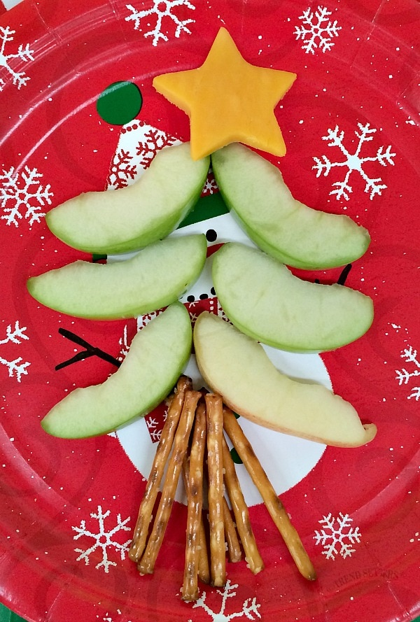 Christmas Tree Treats with Apples