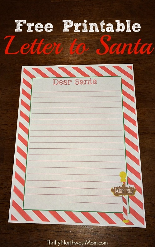 Free printable letter to santa 25 days of christmas activities free printable letter to santa spiritdancerdesigns Gallery