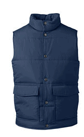 Mens Puffer Vests from Lands End