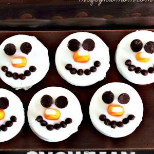 Snowman Oreo Cookies