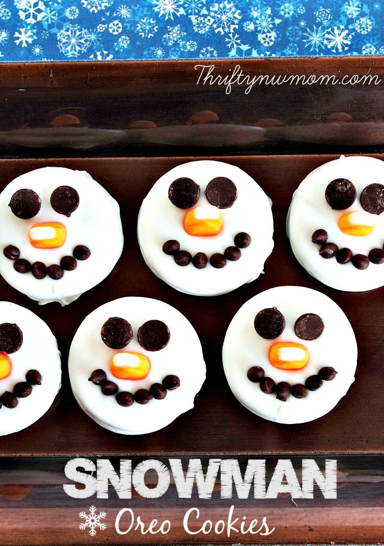 Snowman Oreo Cookies - No Bake Christmas Cookies - Thrifty NW Mom