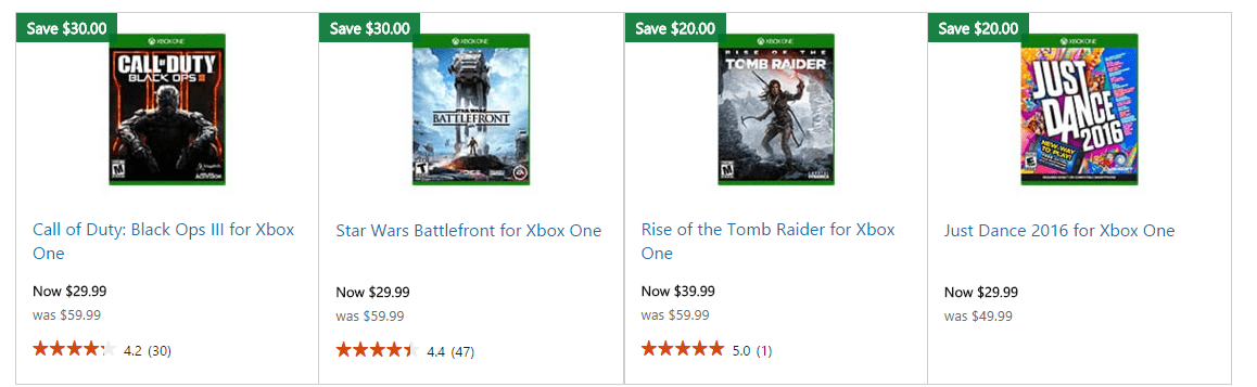 xbox one game sale